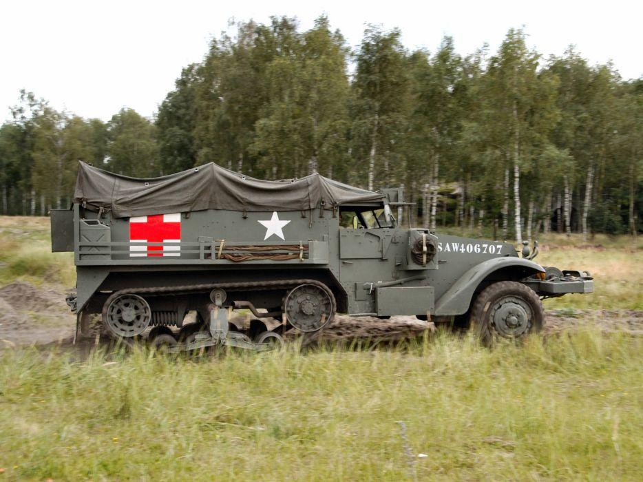 1940 White M3 Half-track Ambulance truck trucks military g