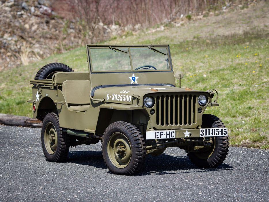 1942 Willys M-B military offroad 4x4     f wallpaper