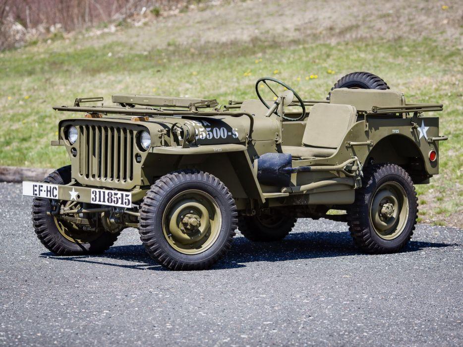 1942 Willys M-B military offroad 4x4     fv wallpaper
