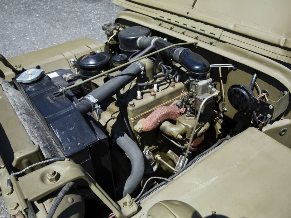 1942 Willys M-B military offroad 4x4 engine engines wallpaper
