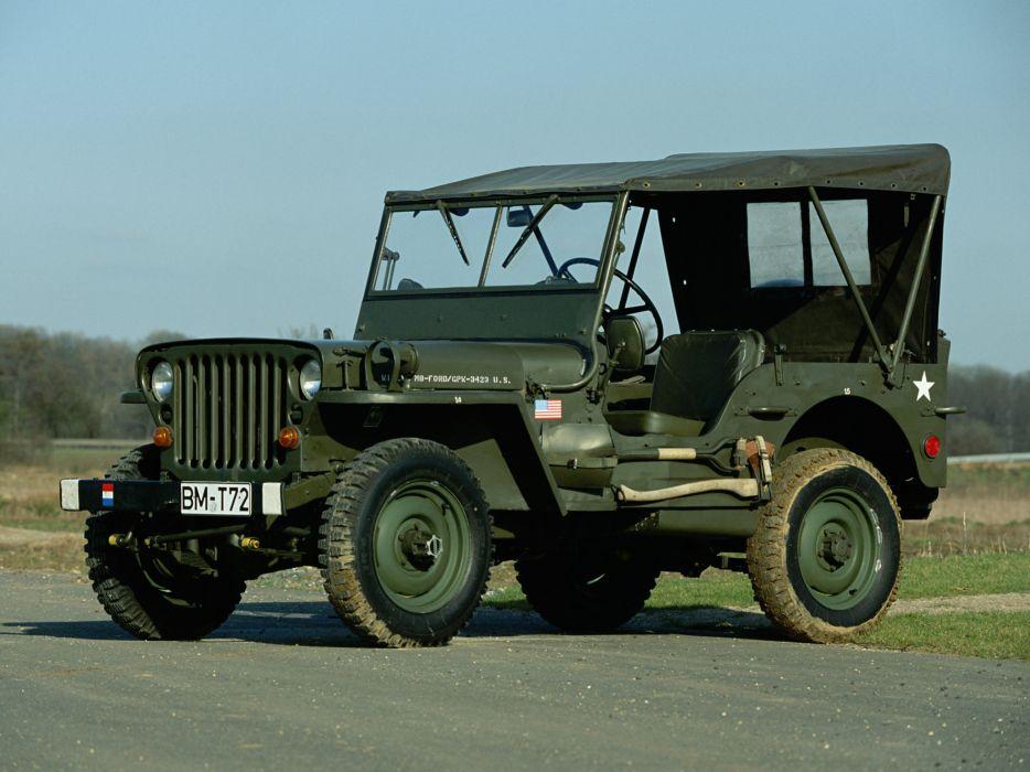 1942 Willys M-B military offroad 4x4 retro g wallpaper