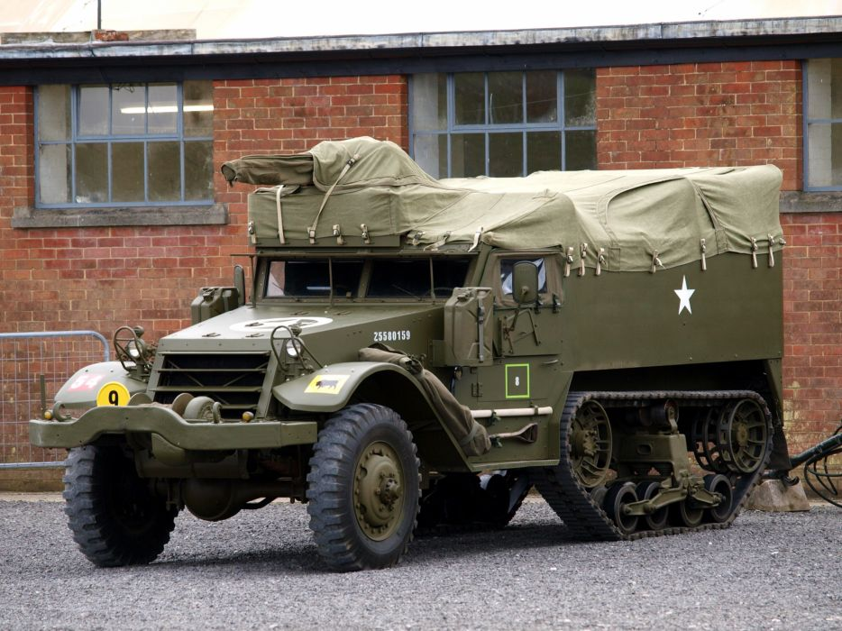1943 International M9A1 Half-Track military retro truck