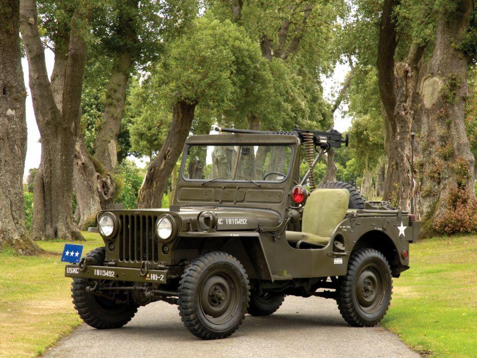 1950 Willys M38 Jeep truck trucks military retro weapon weapons gun guns r wallpaper