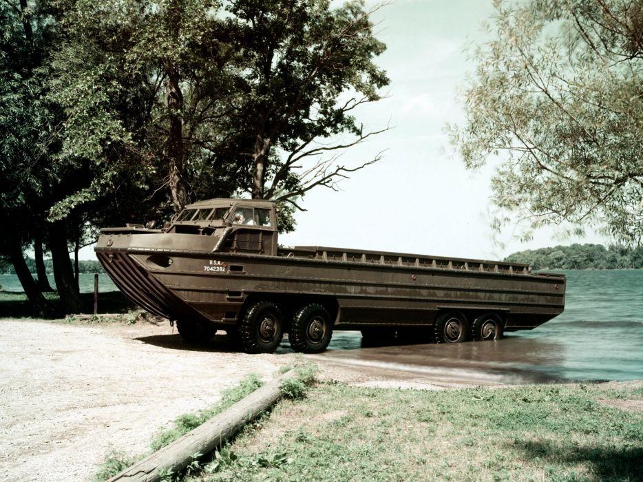 1956 GMC XM 157 Drake 8x8 boat boats military truck trucks retro wallpaper