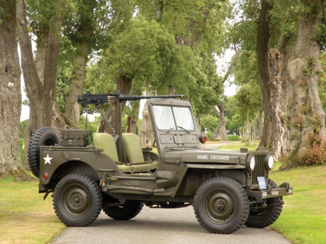 1950 Willys M38 Jeep truck trucks military retro wallpaper