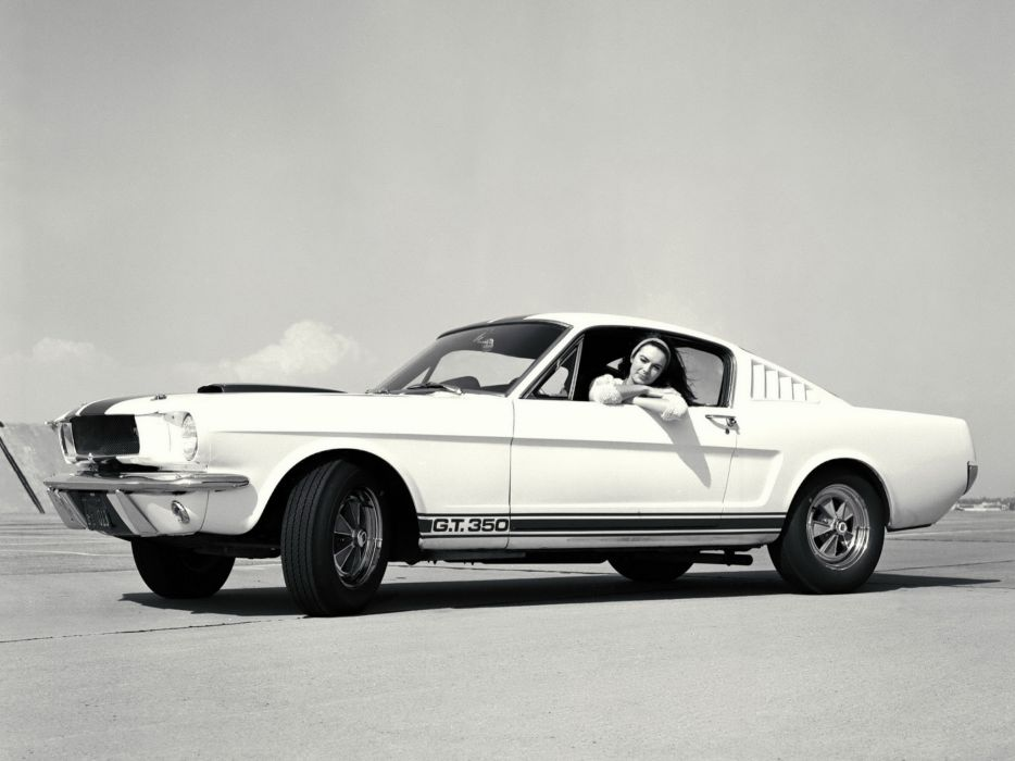 1965 Shelby GT350 ford mustang classic muscle b-w wallpaper