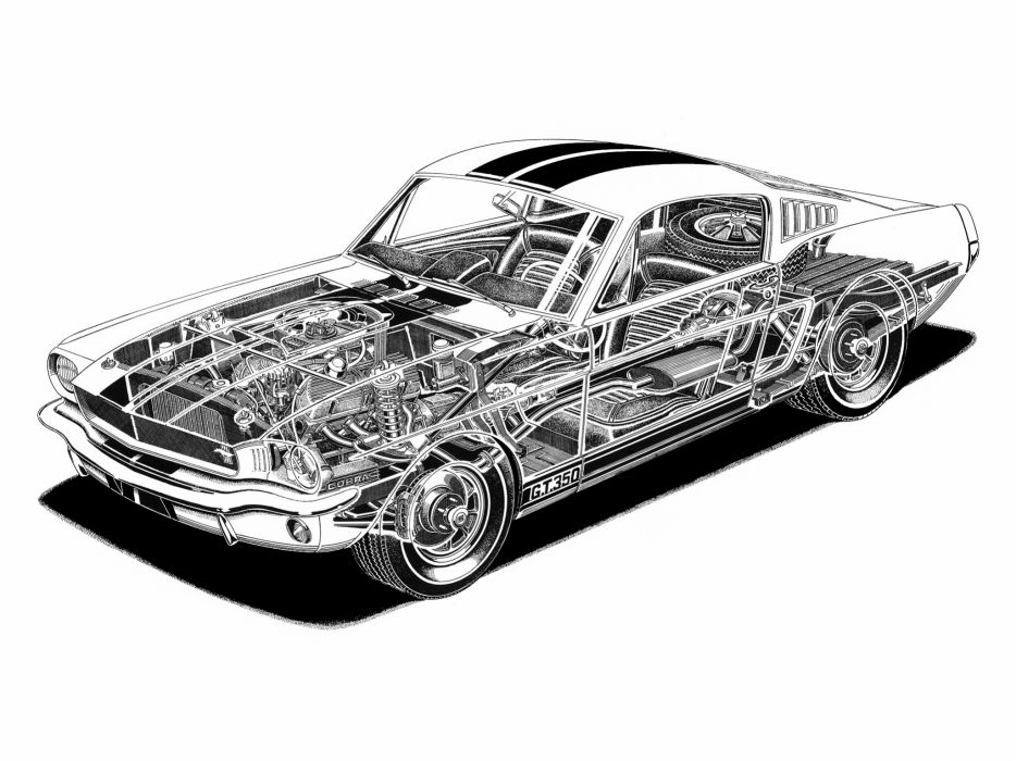 1965 Shelby GT350 ford mustang classic muscle interior engine engines wallpaper