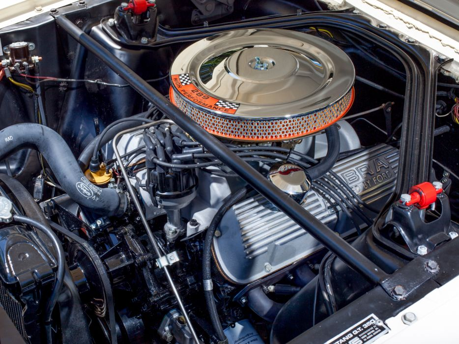 1965 Shelby GT350 ford mustang classic muscle engine engines  q wallpaper