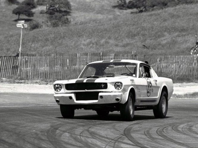 1965 Shelby GT350R ford mustang classic muscle race racing b-w c wallpaper