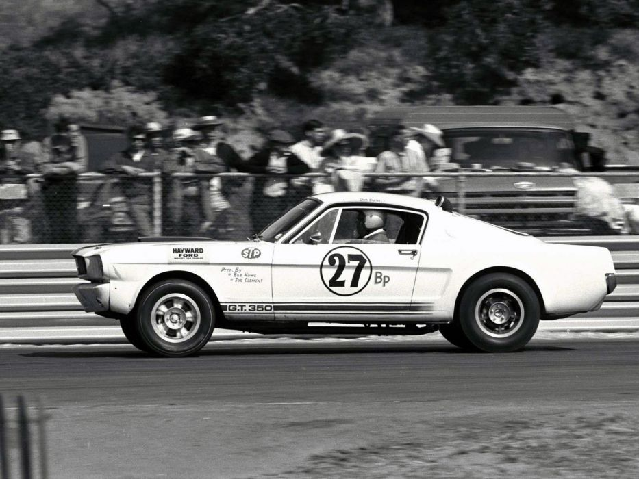 1965 Shelby GT350R ford mustang classic muscle race racing b-w wallpaper