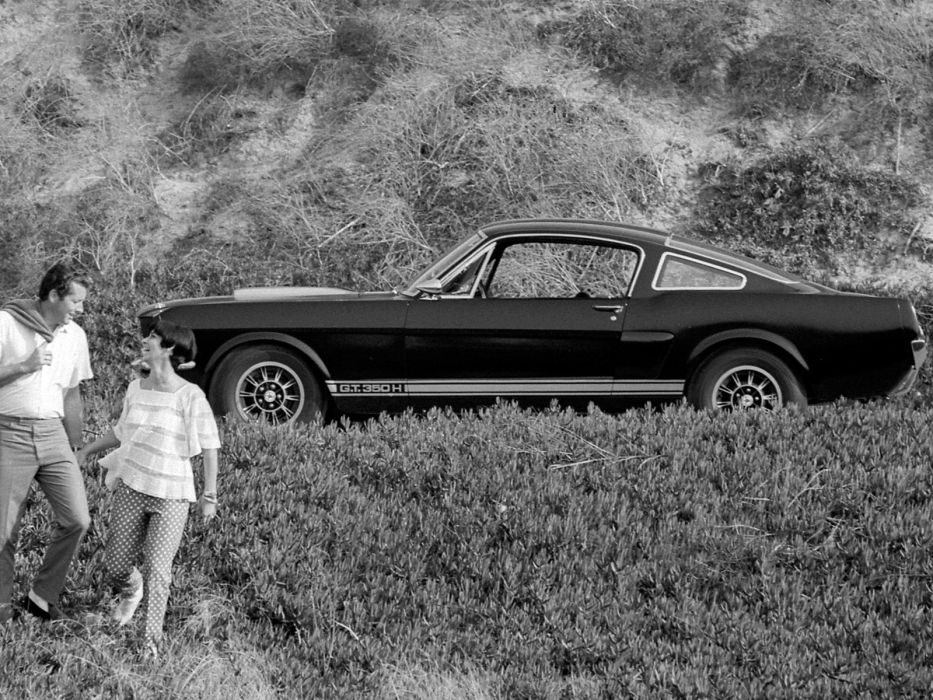 1966 Shelby GT350H ford mustang classic muscle b-w wallpaper