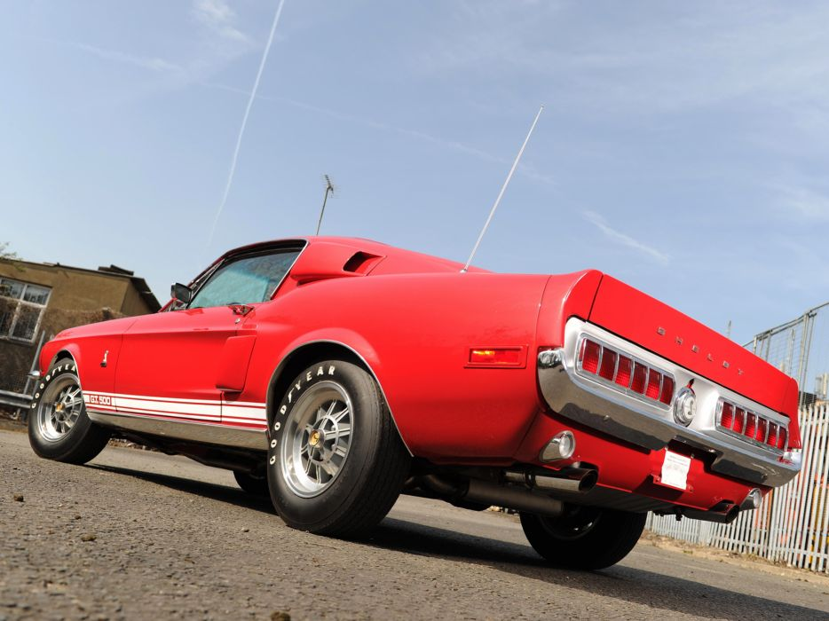 1968 Shelby GT500 ford mustang classic muscle  f wallpaper