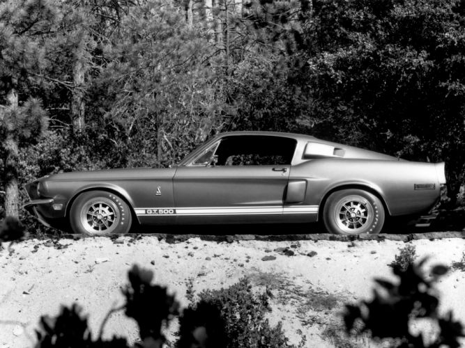 1968 Shelby GT500 ford mustang classic muscle b-w d wallpaper