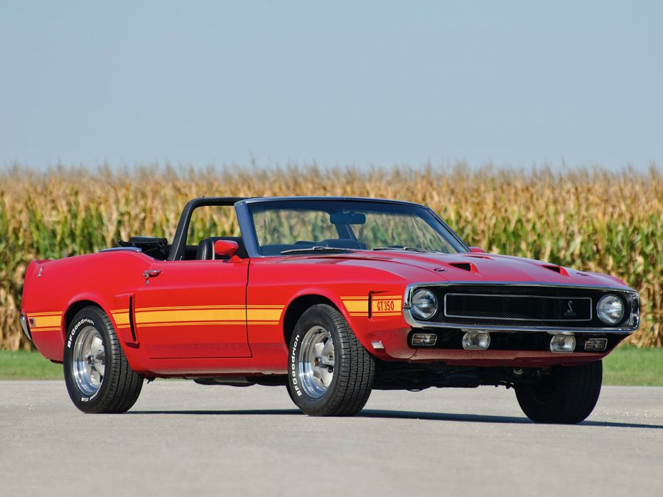 1969 Shelby GT350 Convertible ford mustang classic muscle    g wallpaper