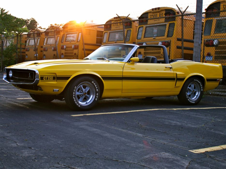 1969 Shelby GT350 Convertible ford mustang classic muscle wallpaper