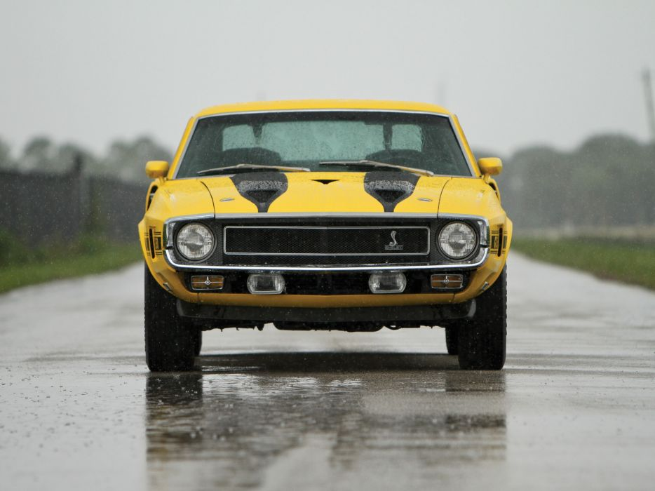 1969 Shelby GT350 ford mustang classic muscle rain wallpaper