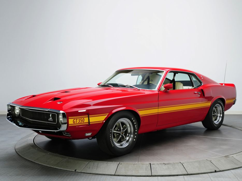 1969 Shelby Gt350 Ford Mustang Classic Muscle W Wallpaper
