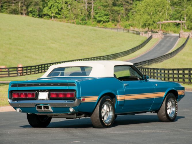 1969 Shelby GT500 Convertible ford mustang classic muscle q wallpaper