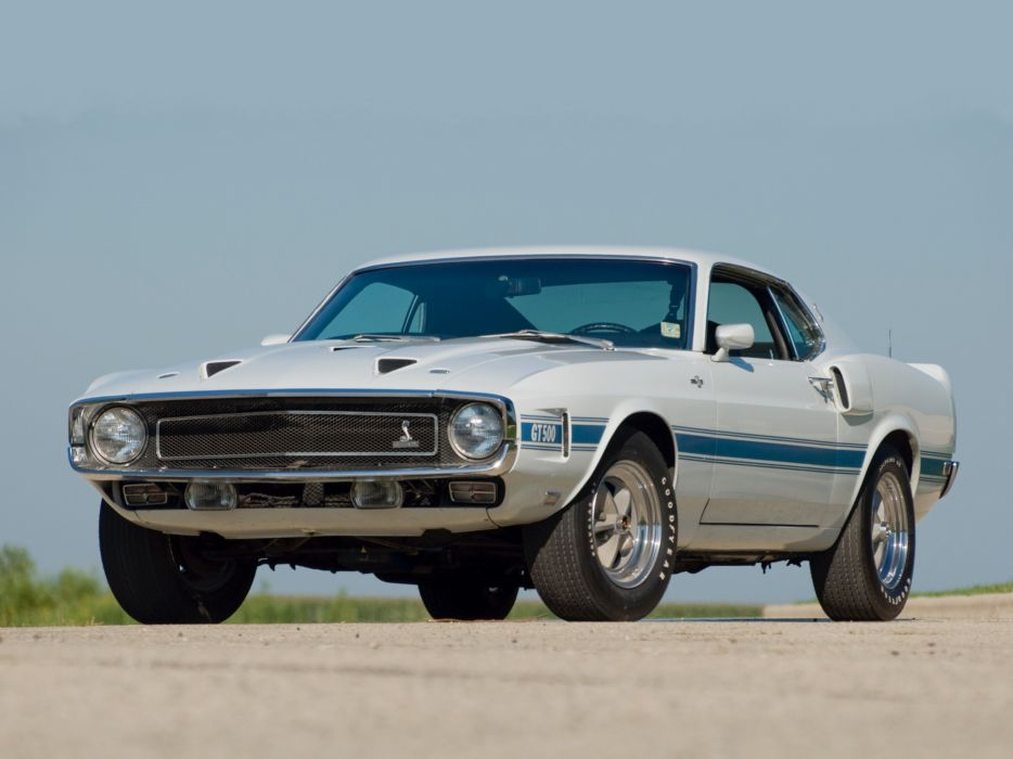 1969 Shelby GT500 ford mustang classic muscle      f wallpaper