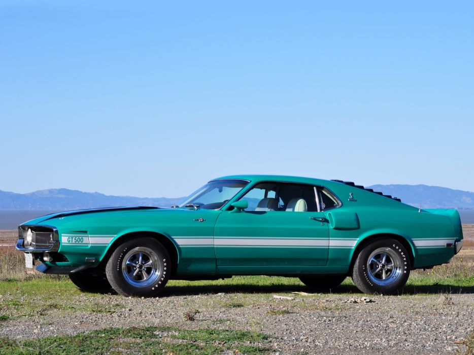 1969 Shelby GT500 ford mustang classic muscle   d wallpaper