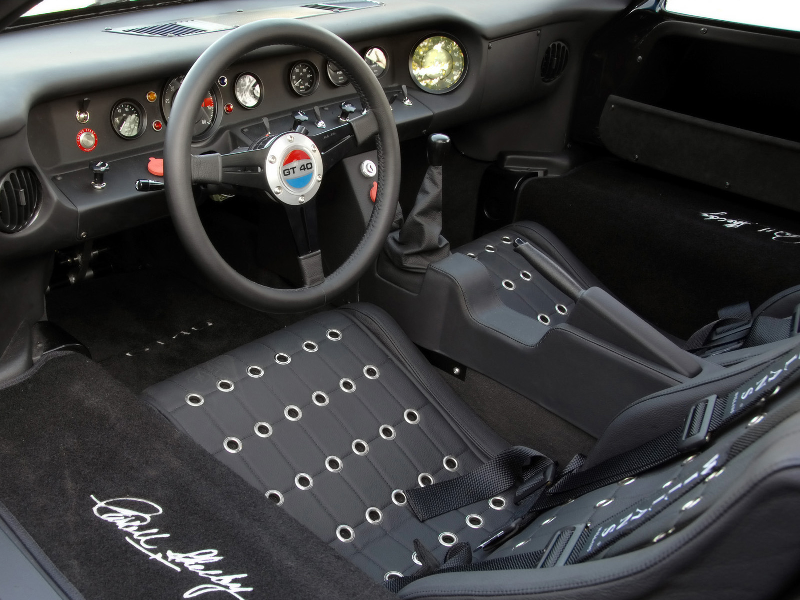 2008 shelby mkii gt40 supercar supercars race racing interior wallpaper 1600x1200 94814. Black Bedroom Furniture Sets. Home Design Ideas