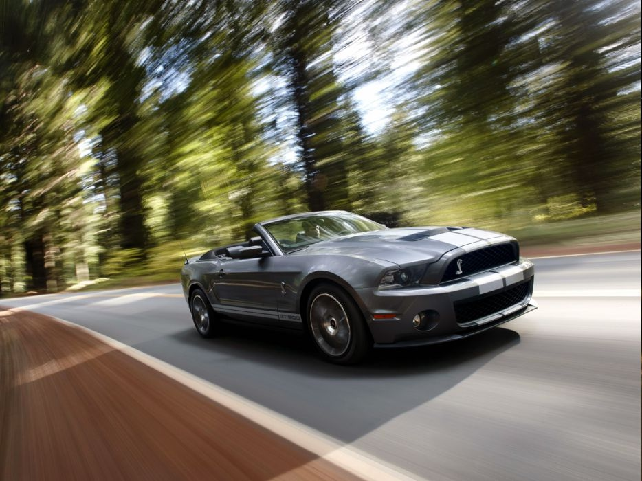 2009 Shelby GT500 Convertible SVT ford mustang muscle   f wallpaper