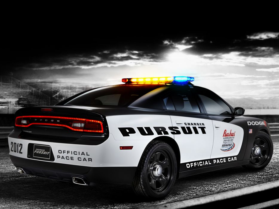 2012 Dodge Charger Pursuit Pace nascar muscle police  g wallpaper