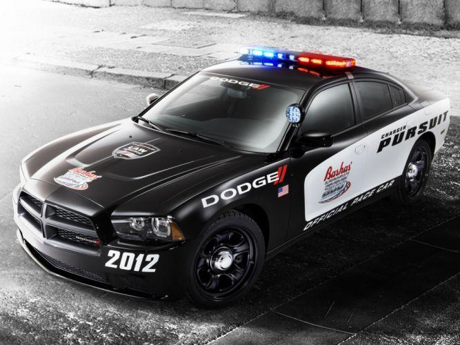 2012 Dodge Charger Pursuit Pace nascar muscle police q wallpaper