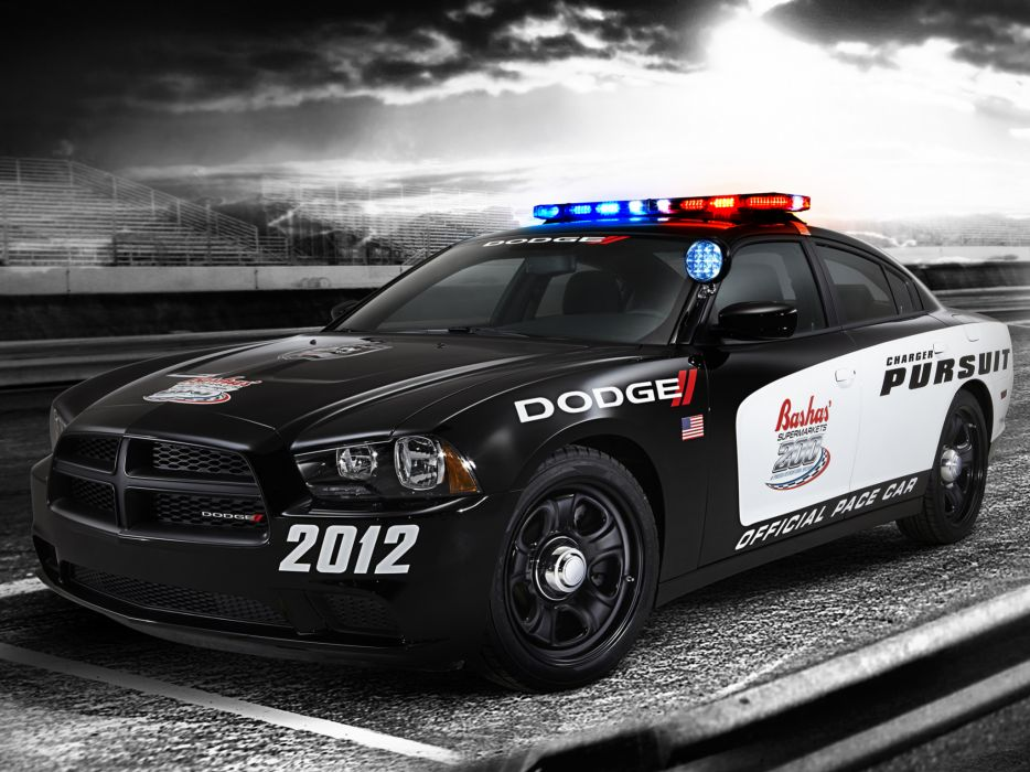 2012 Dodge Charger Pursuit Pace nascar muscle police wallpaper