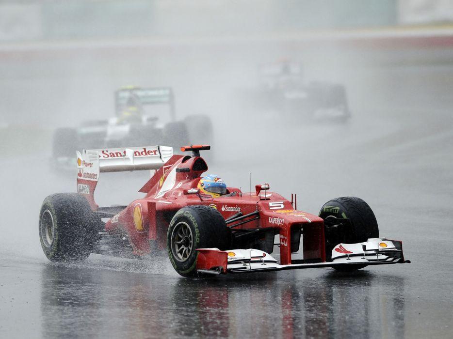 2012 Ferrari F2012 formula one race racing rain wallpaper