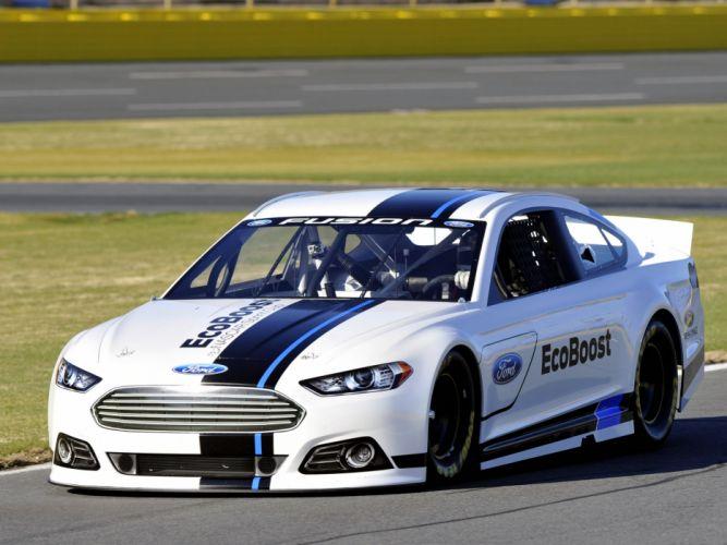 2012 Ford Fusion NASCAR Sprint Cup race racing e wallpaper