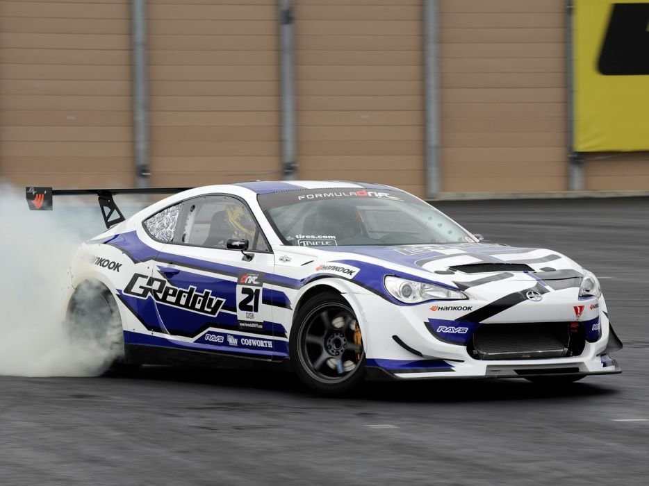 2012 Scion FR-S Drift race racing burnout smoke wallpaper