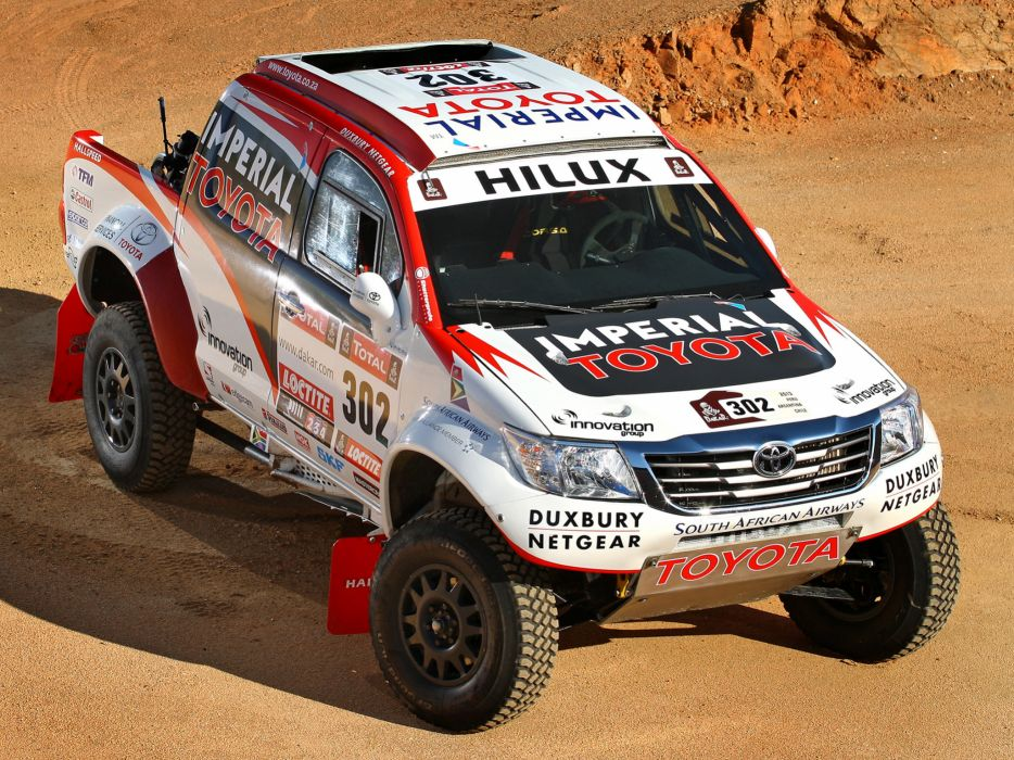 2012 Toyota Hilux Rally offroad race racing wallpaper