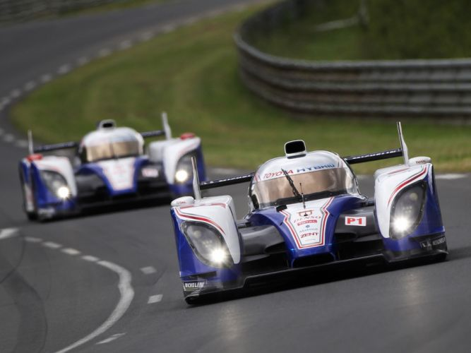 2012 Toyota TS030 Hybrid Le-Mans race racing wallpaper