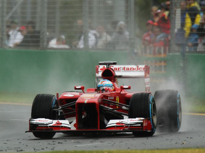 2013 Ferrari F138 formula one race racing rain wallpaper