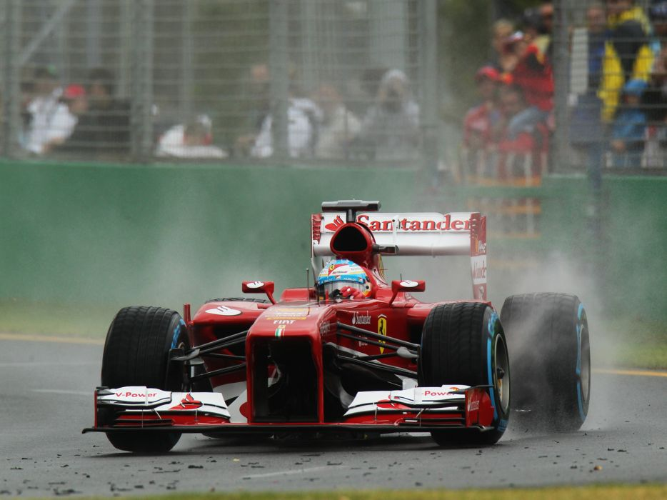 2013 Ferrari F138 formula one race racing rain wallpaper