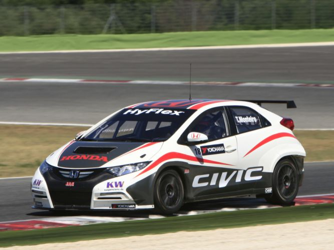 2013 Honda Civic WTCC race racing wallpaper