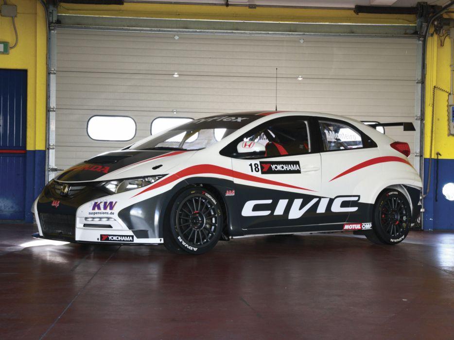2013 Honda Civic WTCC race racing w wallpaper