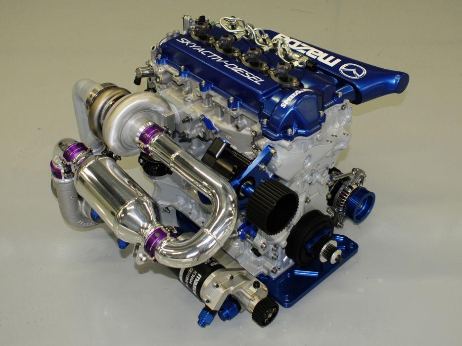 2013 Mazda SKyActiv-D LMP2 Le-Mans race racing engine engines wallpaper