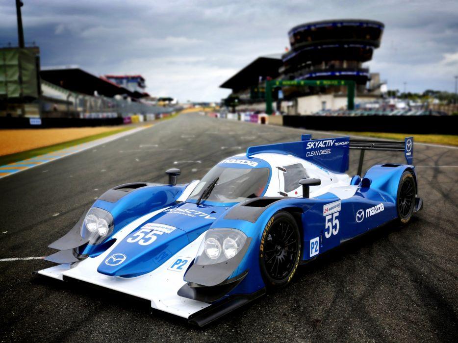 2013 Mazda SKyActiv-D LMP2 Le-Mans race racing wallpaper