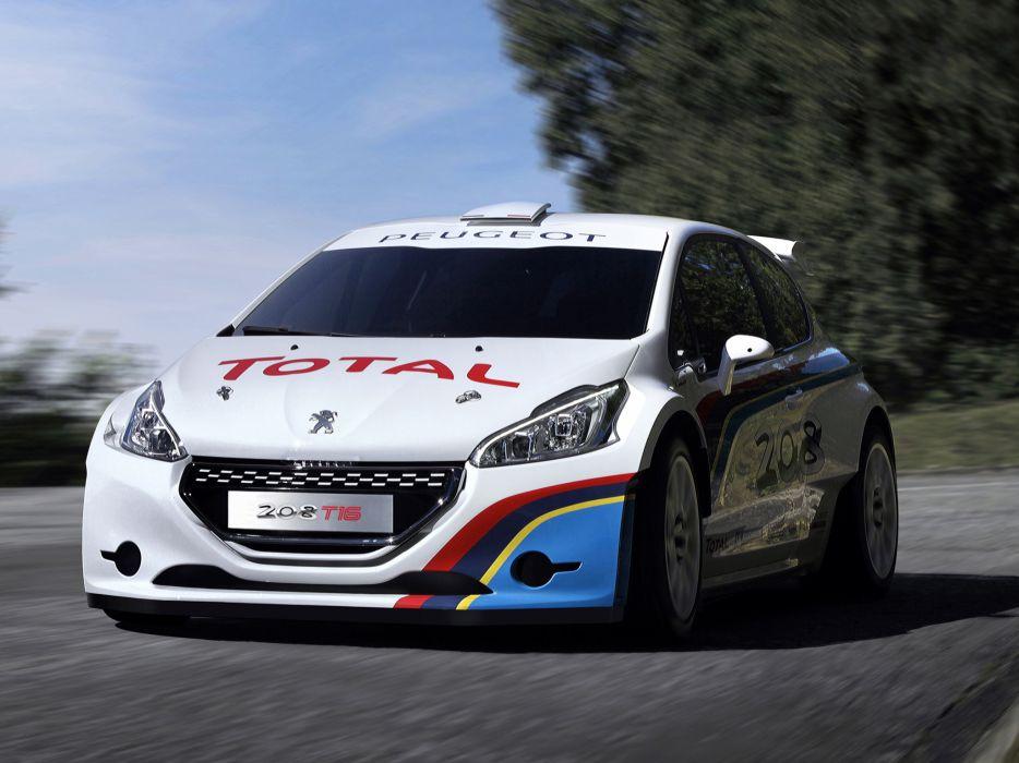 2013 Peugeot 208 T16 rally race racing wallpaper
