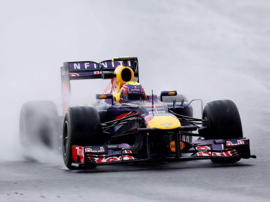 2013 Red Bull Renault Infiniti RB9 Formula One race racing rain wallpaper