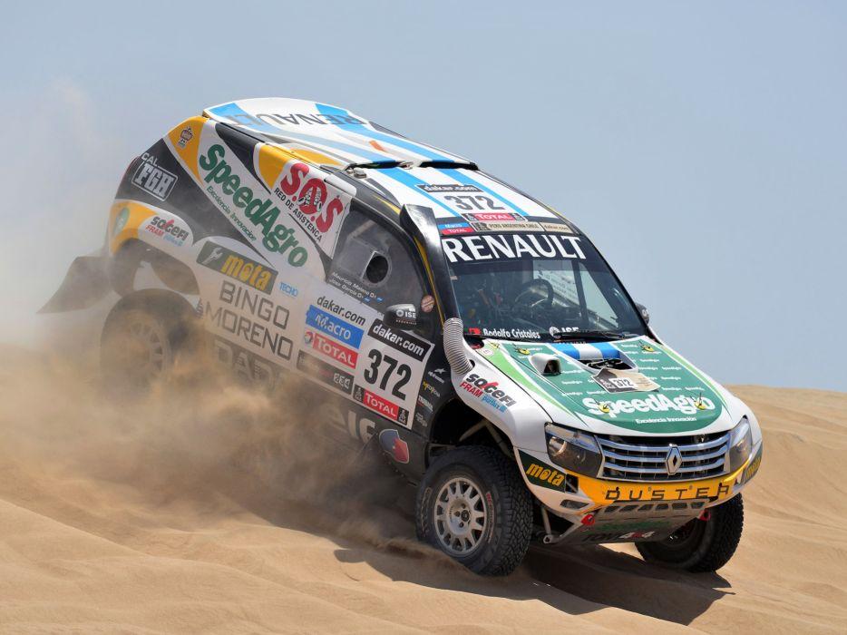 2013 Renault Duster Rally Dakar offroad race racing w wallpaper