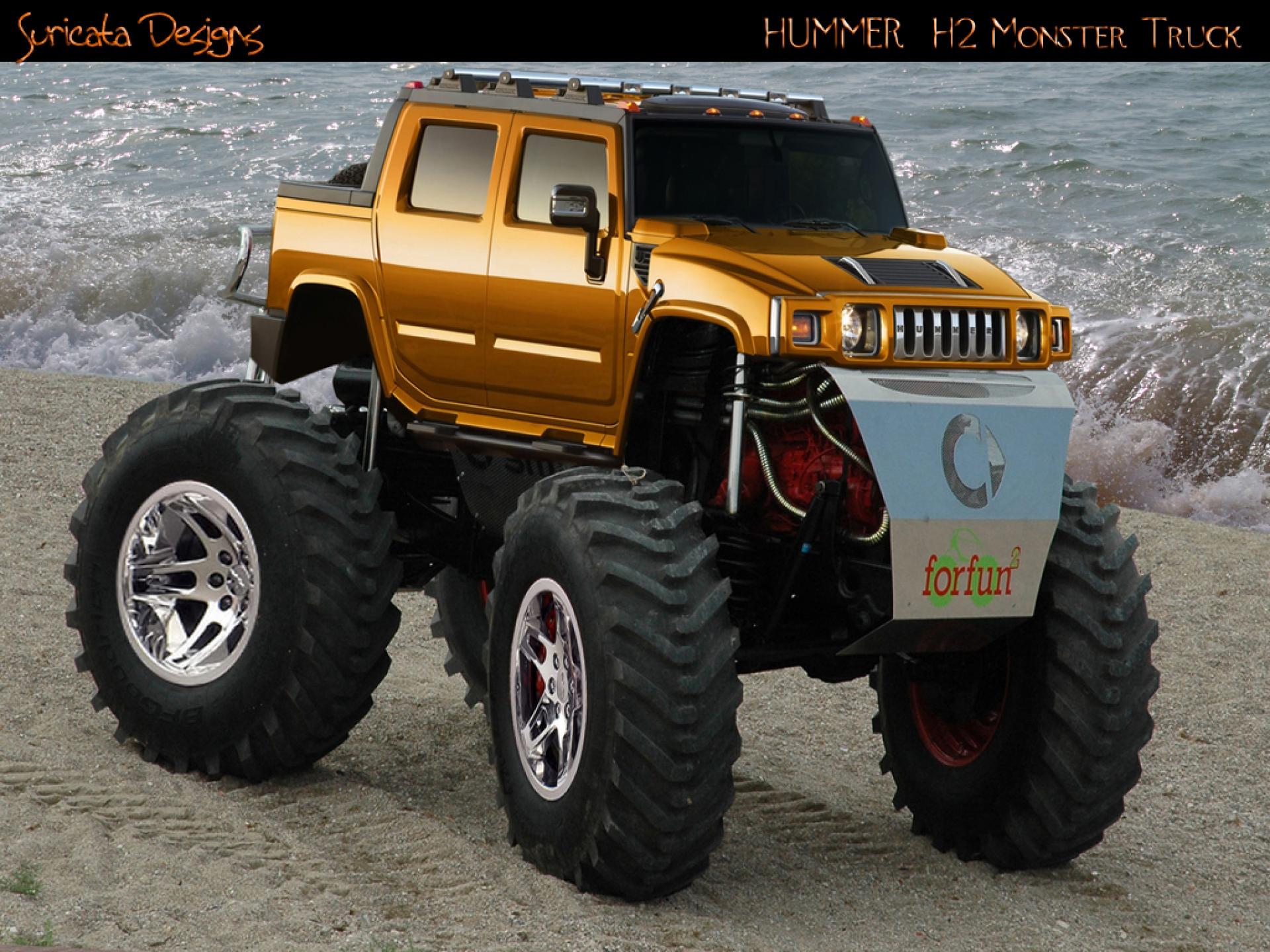 T Pico Hummer Monster Truck Wallpaper