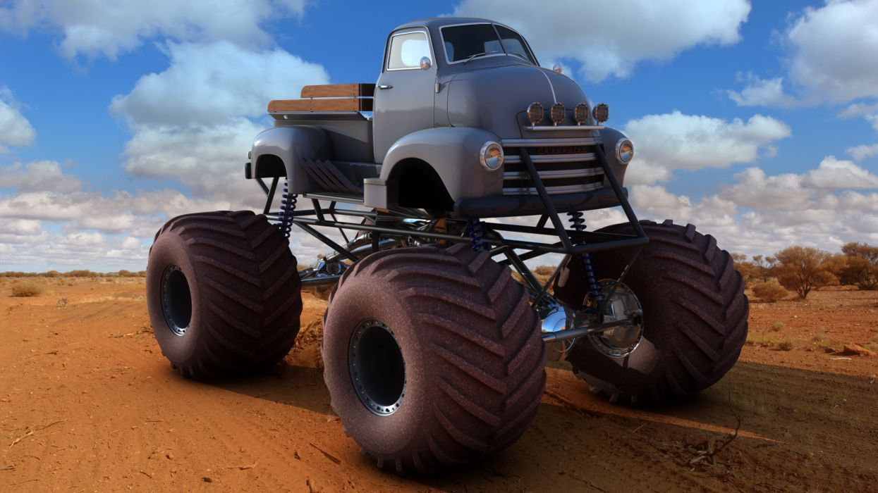 monster-truck monster truck trucks 4x4 wheel wheels      fw wallpaper