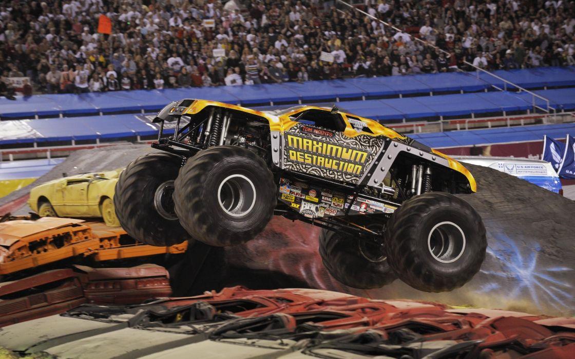 monster-truck monster truck trucks 4x4 wheel wheels     gr wallpaper