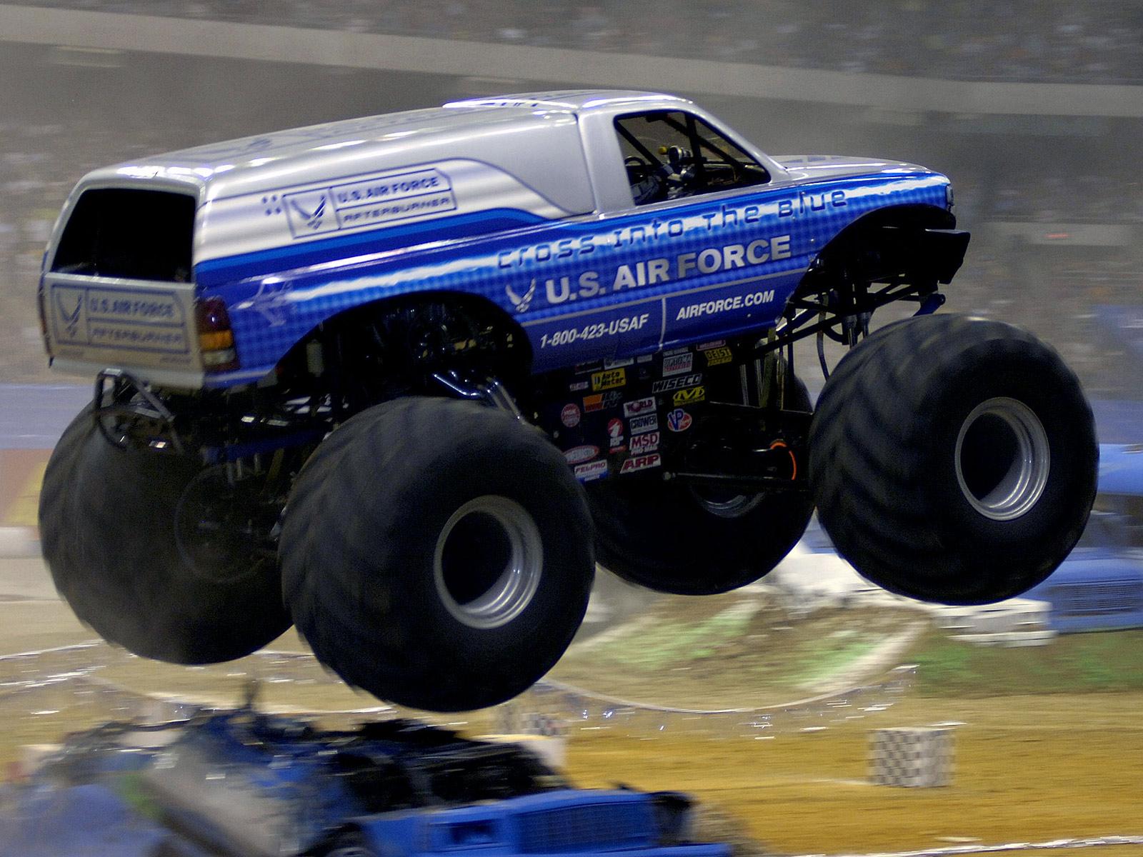 Monster Truck Monster Truck Trucks Wheel Wheels F Wallpaper