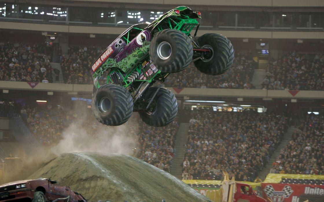 monster-truck monster truck trucks 4x4 wheel wheels    y wallpaper