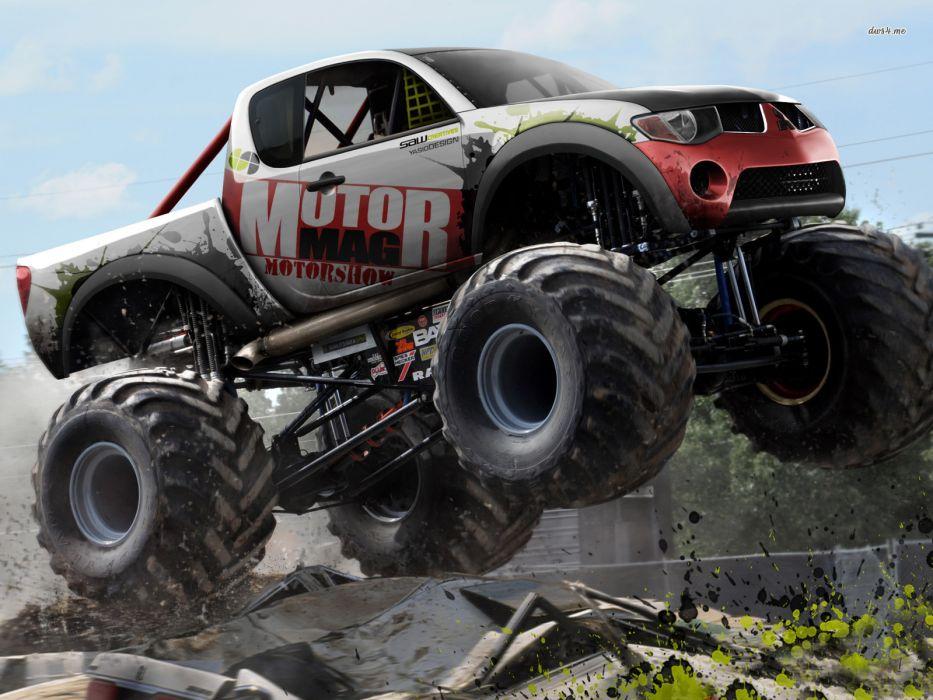 monster-truck monster truck trucks 4x4 wheel wheels  v wallpaper