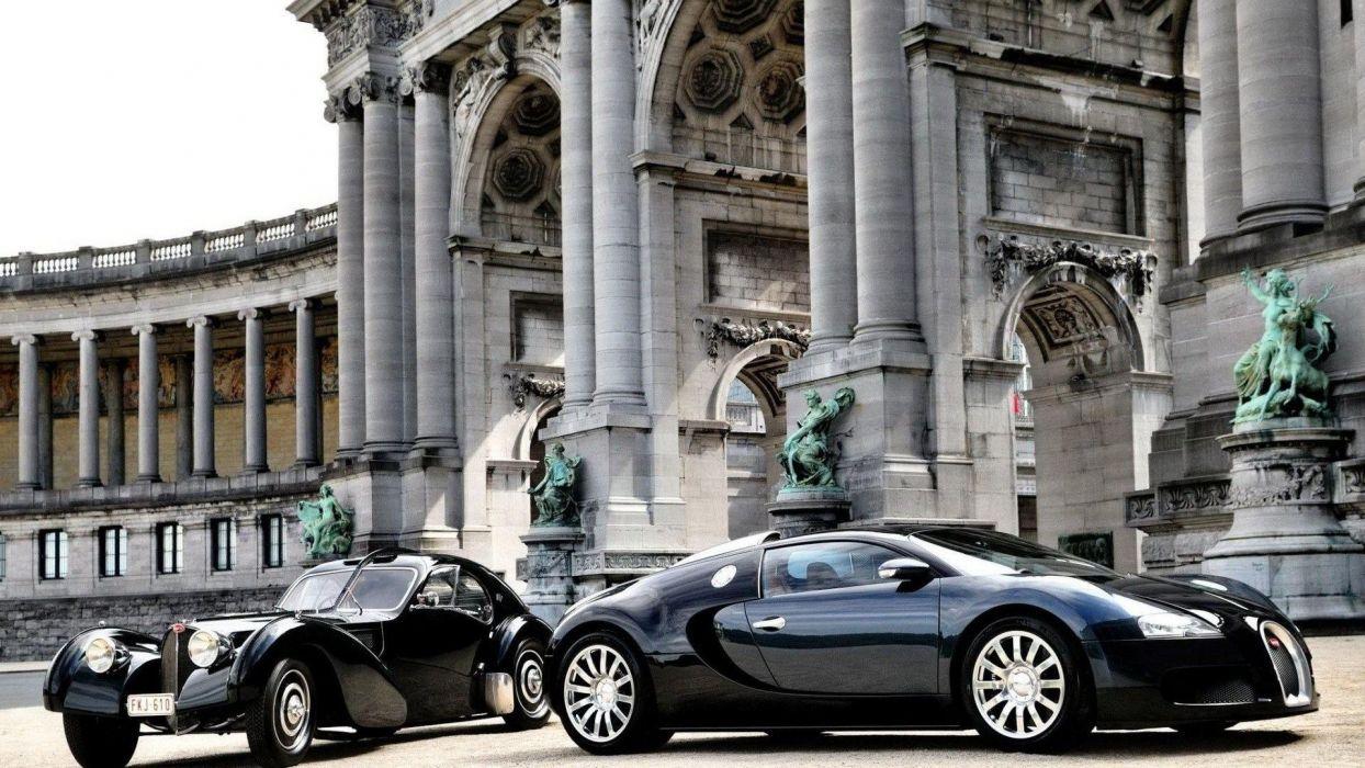 Old and New Bugatti wallpaper